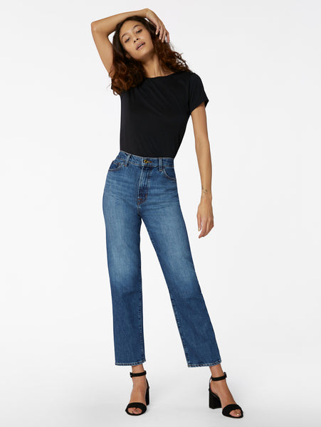 Jules High Waist Straight Leg Jean - Metropole-J Brand-Over the Rainbow
