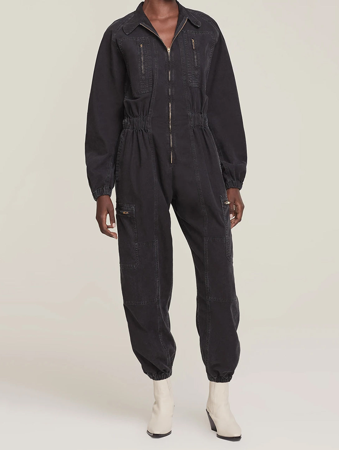 Marin Flight Suit - Washed Black-AGOLDE-Over the Rainbow