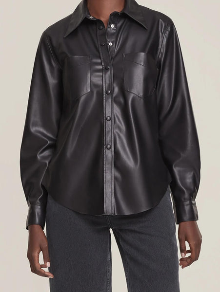 Paloma Vegan Leather Shirt - Detox-AGOLDE-Over the Rainbow