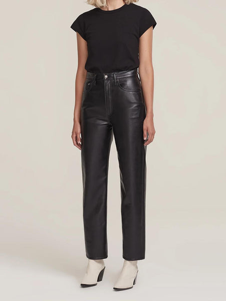 Recycled Leather 90's Pinch Waist Pant-AGOLDE-Over the Rainbow