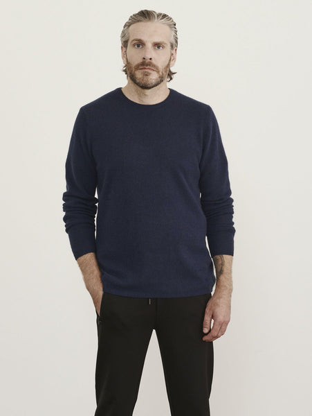 Air Cashmere Crew Sweater - Midnight-Patrick Assaraf-Over the Rainbow