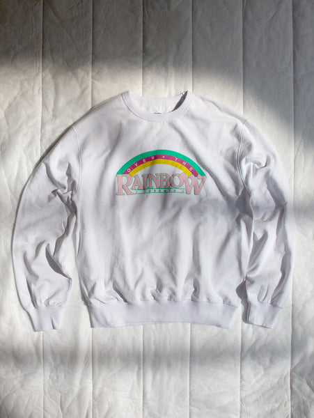 Unisex 1980's Raised Logo Sweatshirt-YORKVILLE COLLECTORS SERIES-Over the Rainbow