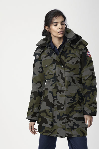 Gabriola Parka - Camo Coastal-Canada Goose-Over the Rainbow