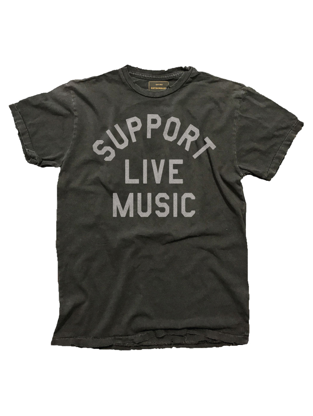 Support Live Music T-Shirt-Retro Brand Black Label-Over the Rainbow