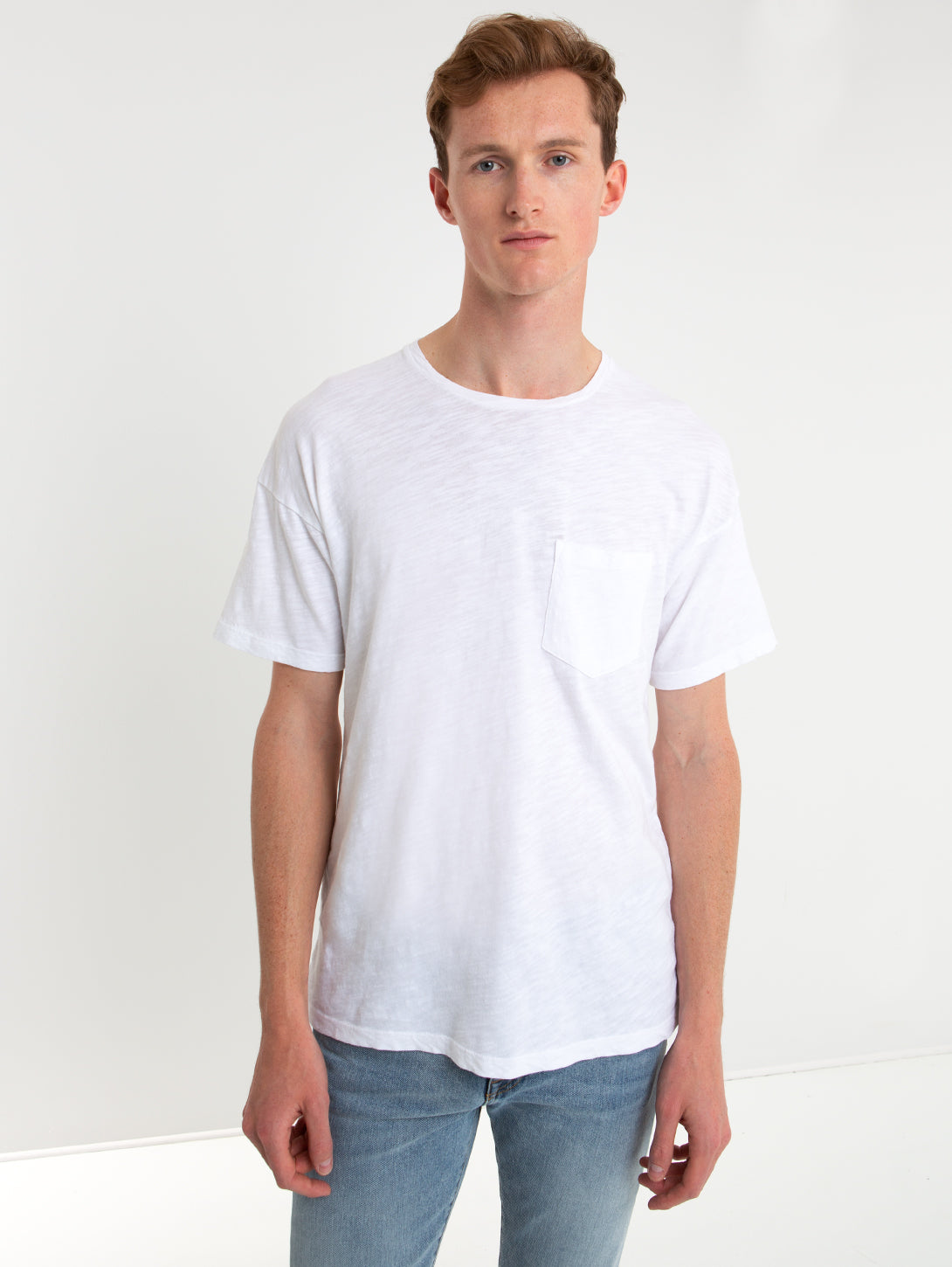 Loose Front Pocket T-Shirt-HIRO CLARK-Over the Rainbow