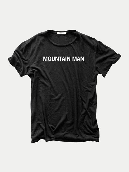 Mountain Man T-Shirt - Black-HIRO CLARK-Over the Rainbow