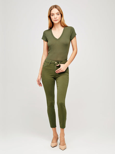 Margot High Rise Skinny Jean - Basil-LAGENCE-Over the Rainbow