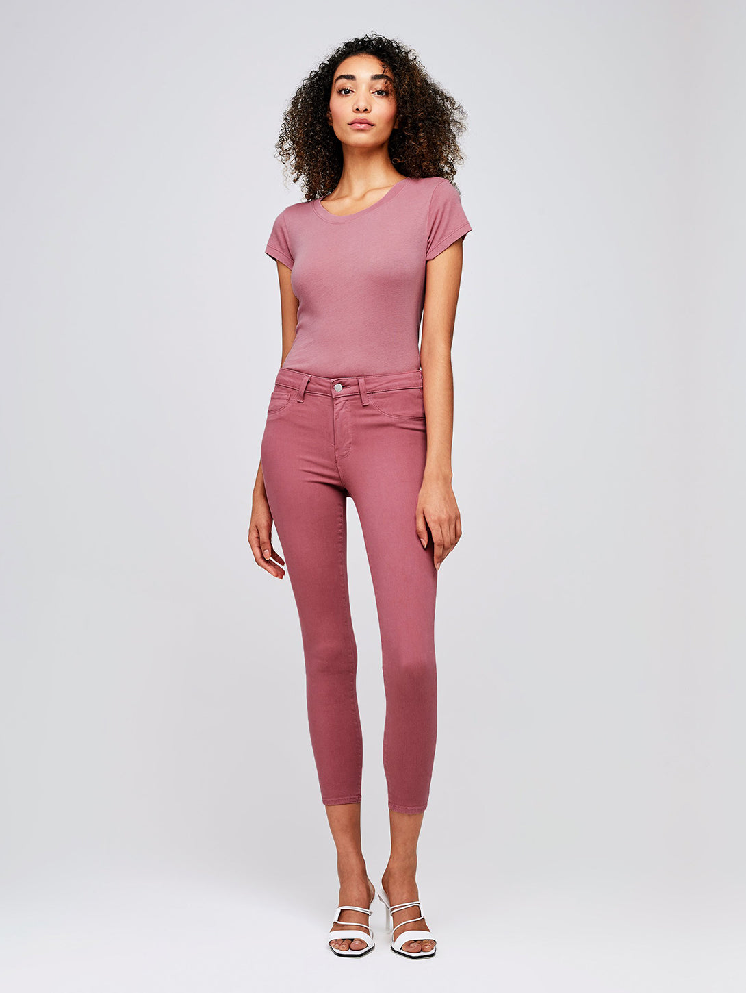 Margot High Rise Skinny Jean - Wildrose-L'AGENCE-Over the Rainbow