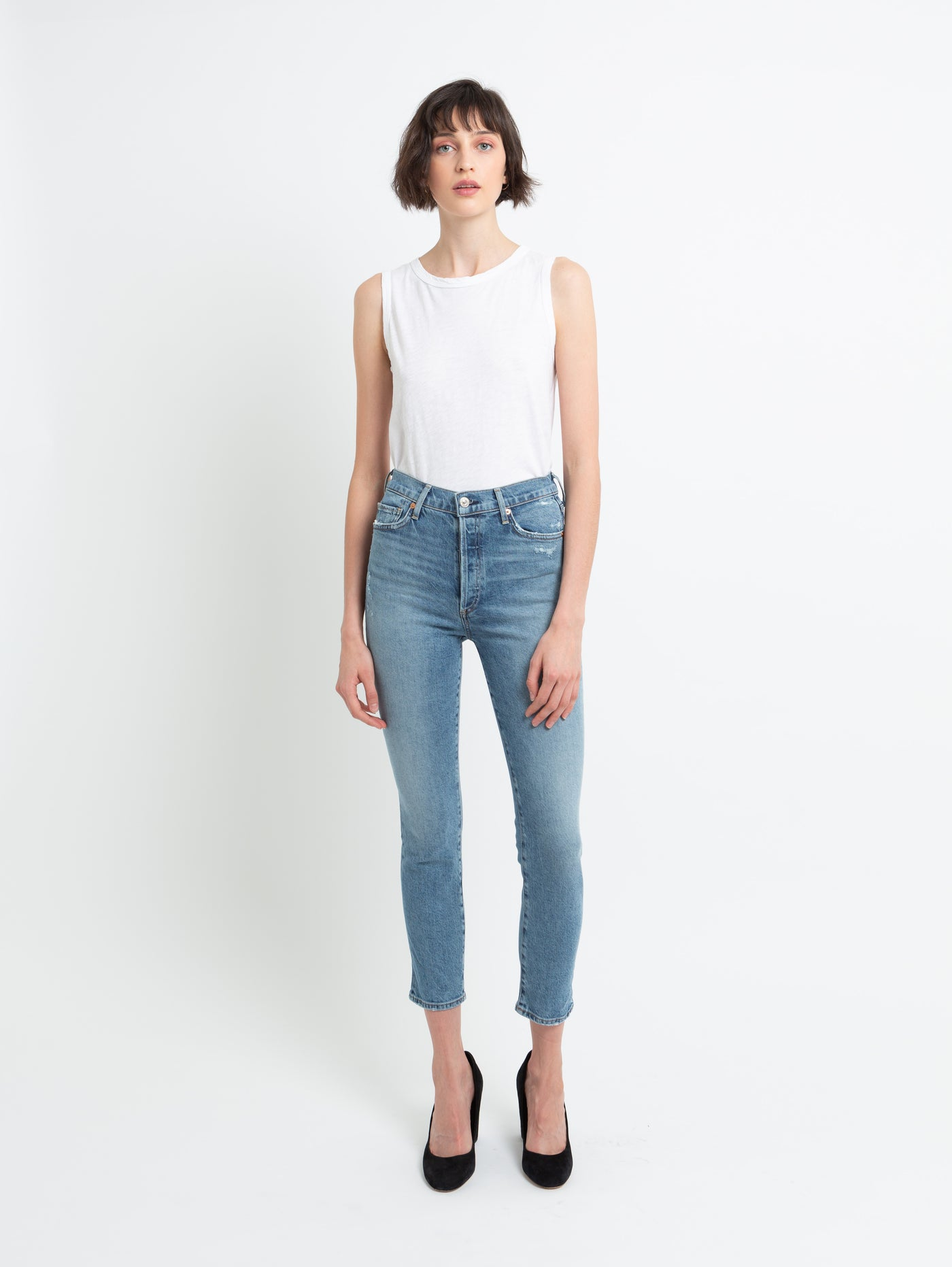 Olivia High Rise Slim Jean - Chit Chat-Citizens of Humanity-Over the Rainbow
