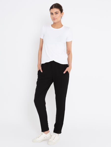 System Silk Georgette Slouchy Ankle Pant-EILEEN FISHER-Over the Rainbow
