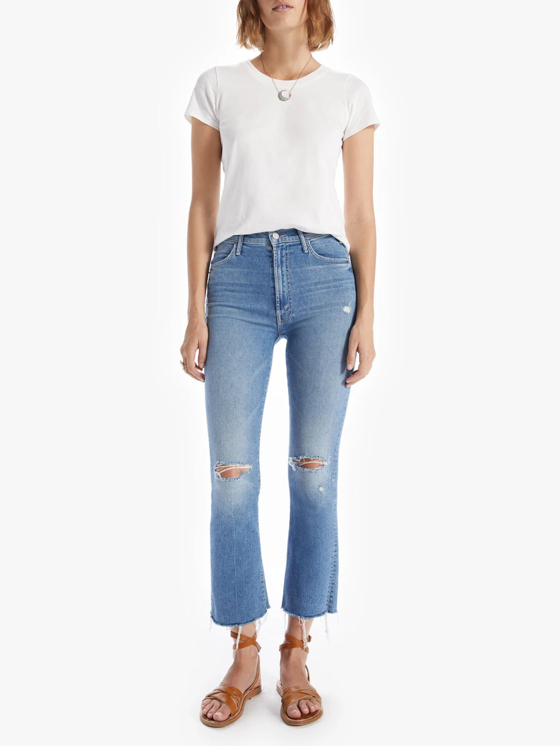 Hustler Ankle Fray Bootcut Jean - Understudy-Mother-Over the Rainbow