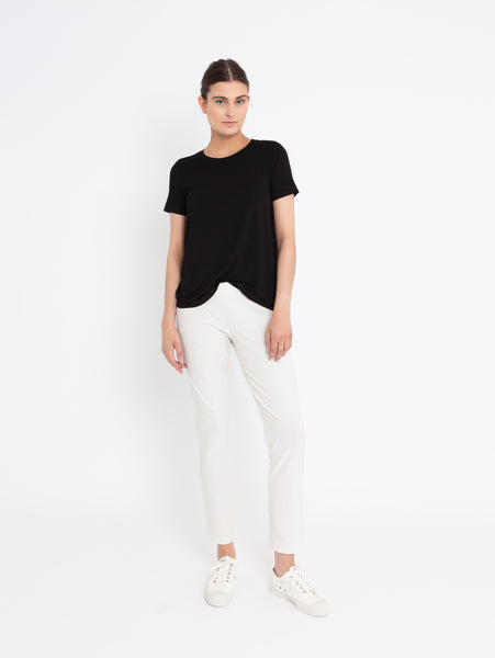 System Stretch Crepe Slim Ankle Pant-EILEEN FISHER-Over the Rainbow