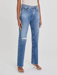 Alexxis High Rise Straight Jean - 18 Years Poplar-AG Jeans-Over the Rainbow
