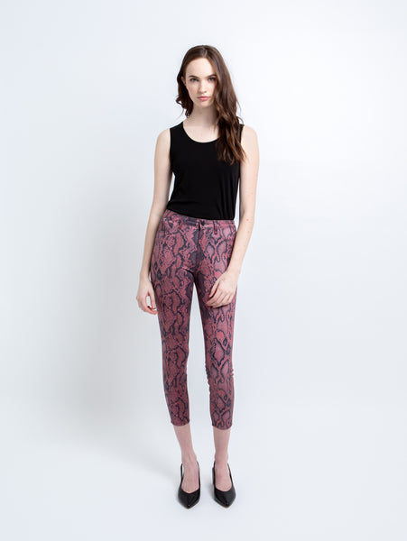 Margot Coated High Rise Skinny Jean - Garnet Aurora-L'AGENCE-Over the Rainbow