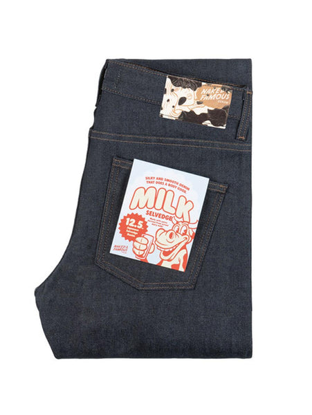 Weird Guy Selvedge Jean - Milk-Naked & Famous-Over the Rainbow