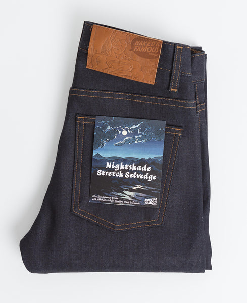 Nice Guy Stretch Selvedge Jean - Nightshade-Naked & Famous-Over the Rainbow