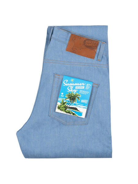 Super Guy Selvedge Jean - Summer Sky-Naked & Famous-Over the Rainbow