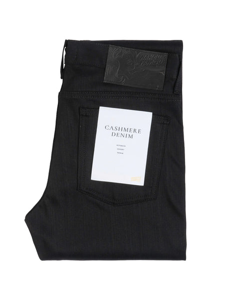 Weird Guy Stretch Denim - Black Cashmere Blend-Naked & Famous-Over the Rainbow