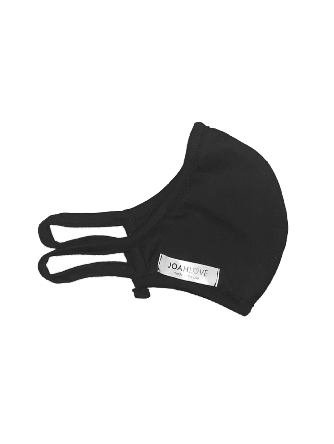 Adult Cotton Face Mask - Black/Black-JOAH LOVE-Over the Rainbow