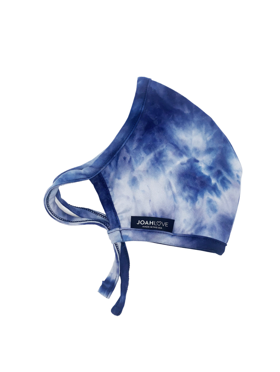Adult Cotton Face Mask - Navy Tie Dye-JOAH LOVE-Over the Rainbow
