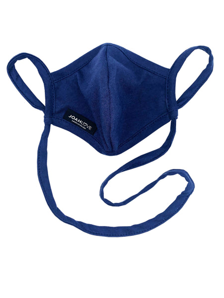 Adult Infinity Strap Filter Pocket Mask - Navy-JOAH LOVE-Over the Rainbow