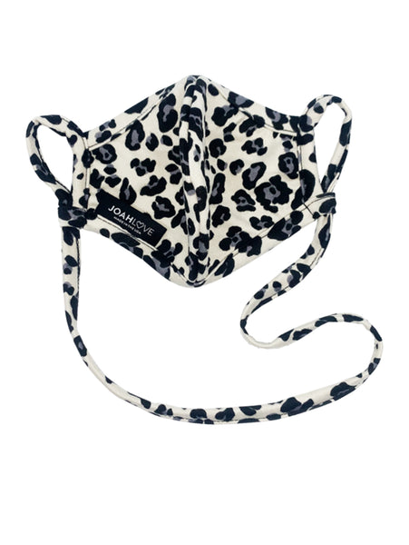 Reversible Infinity Strap Mask - Cheetah/Black-JOAH LOVE-Over the Rainbow