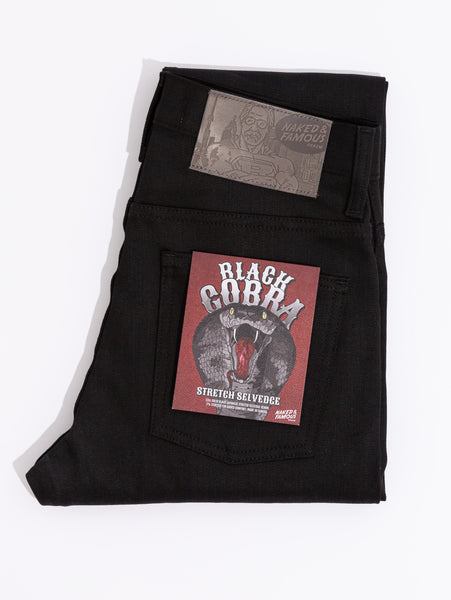 Nice Guy Selvedge Jean - Black Cobra-Naked & Famous-Over the Rainbow