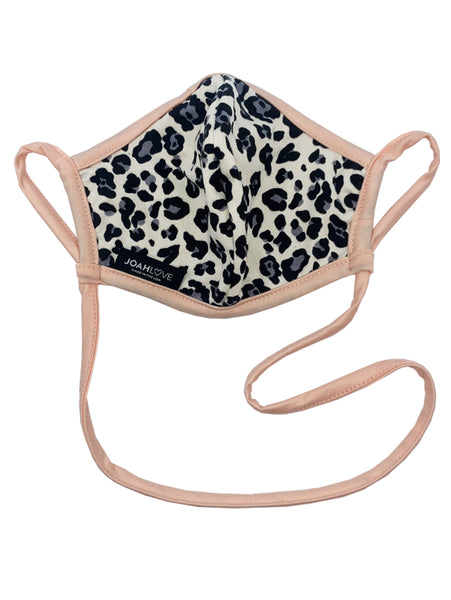 Reversible Infinity Strap Mask - Cream Cheetah/Peach Black-JOAH LOVE-Over the Rainbow