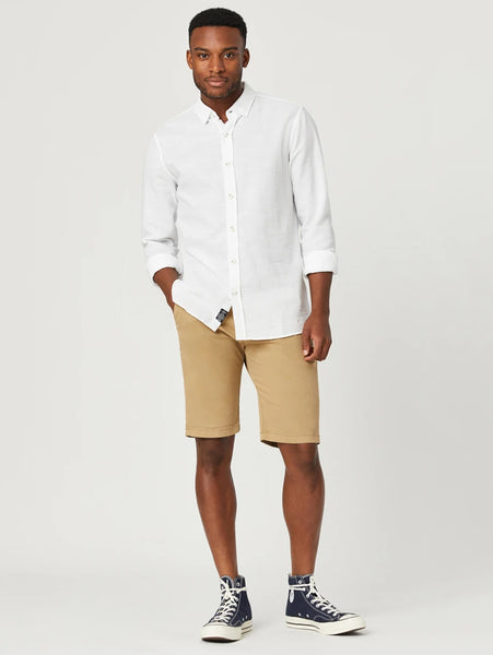 Jacob Twill Short - British Khaki-Mavi-Over the Rainbow