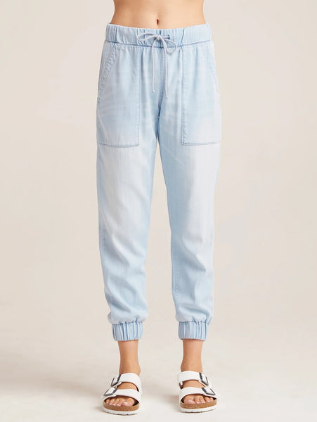 Denim Pocket Jogger Pant - Sky Blue-Bella Dahl-Over the Rainbow