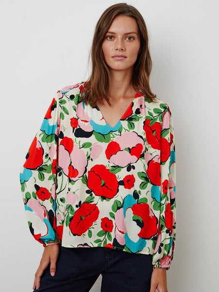 Paolina Floral Print Top-Velvet-Over the Rainbow