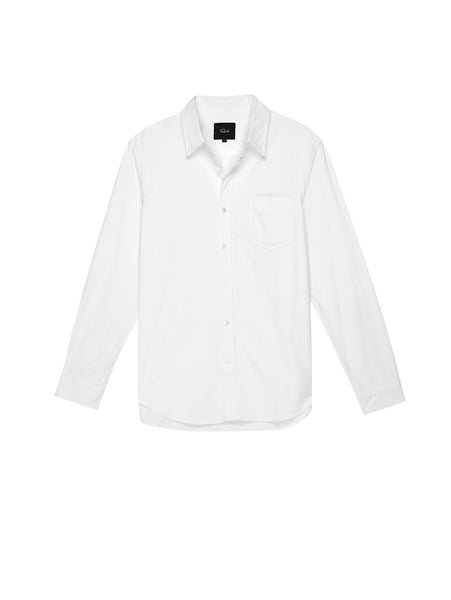 Reid Long Sleeve Button Down Shirt - White