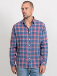 Wyatt Button Down Shirt - Blue Faded Red Cream-Rails-Over the Rainbow