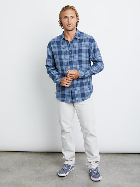 Wyatt Button Down Shirt - Sky Blue Steel-Rails-Over the Rainbow
