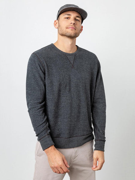 Irving Crew Long Sleeve Top - Charcoal-Rails-Over the Rainbow