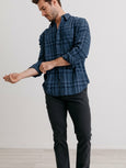 Connor Button Down Shirt - Indigo-Rails-Over the Rainbow