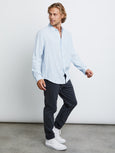 Wyatt Button Down Shirt - Oxford-Rails-Over the Rainbow