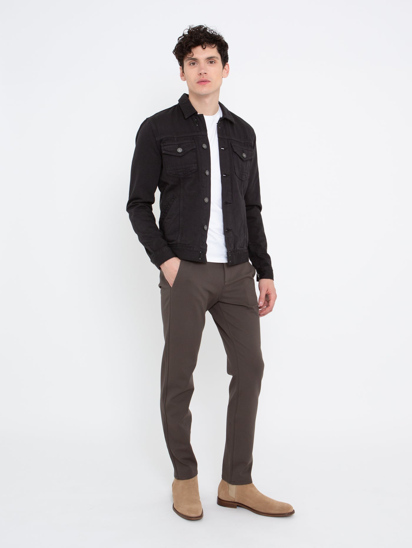 Stafford Slim Pant - Black Olive-Paige-Over the Rainbow
