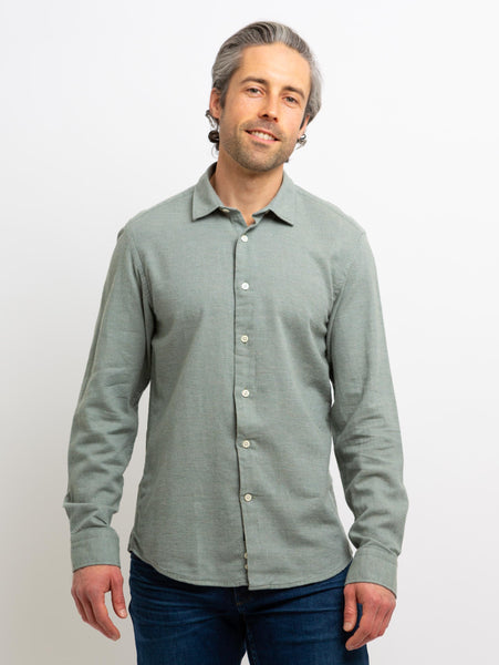 Redford Woven Button Down Shirt - Sage-Benson-Over the Rainbow