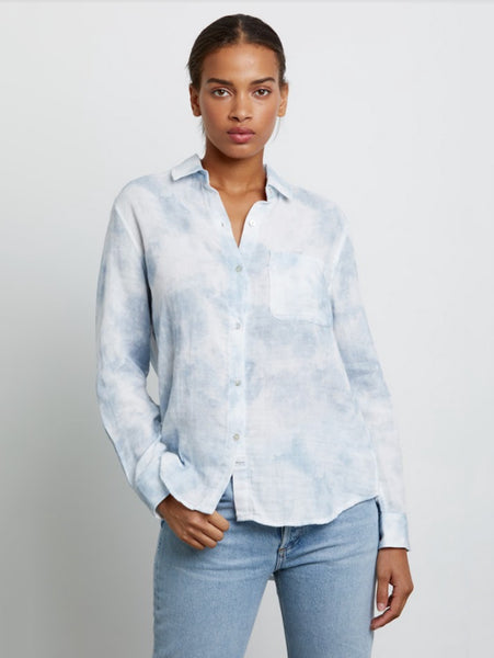 Ellis Button Down Shirt - Tie Dye Cascade-Rails-Over the Rainbow