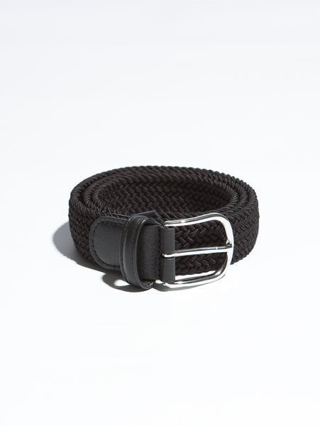 Stretch Woven Belt - Black-Anderson's-Over the Rainbow