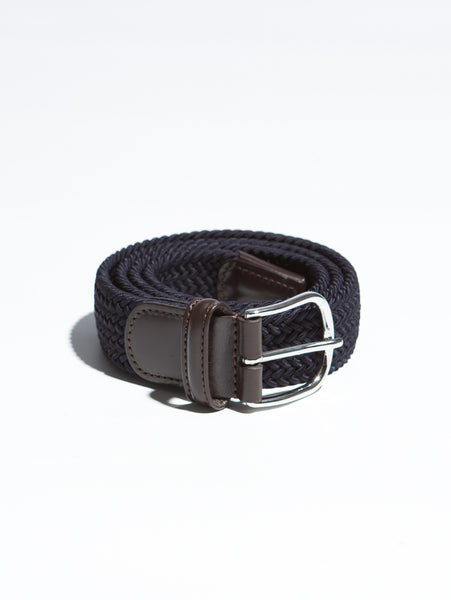 Stretch Woven Belt - Navy-Anderson's-Over the Rainbow