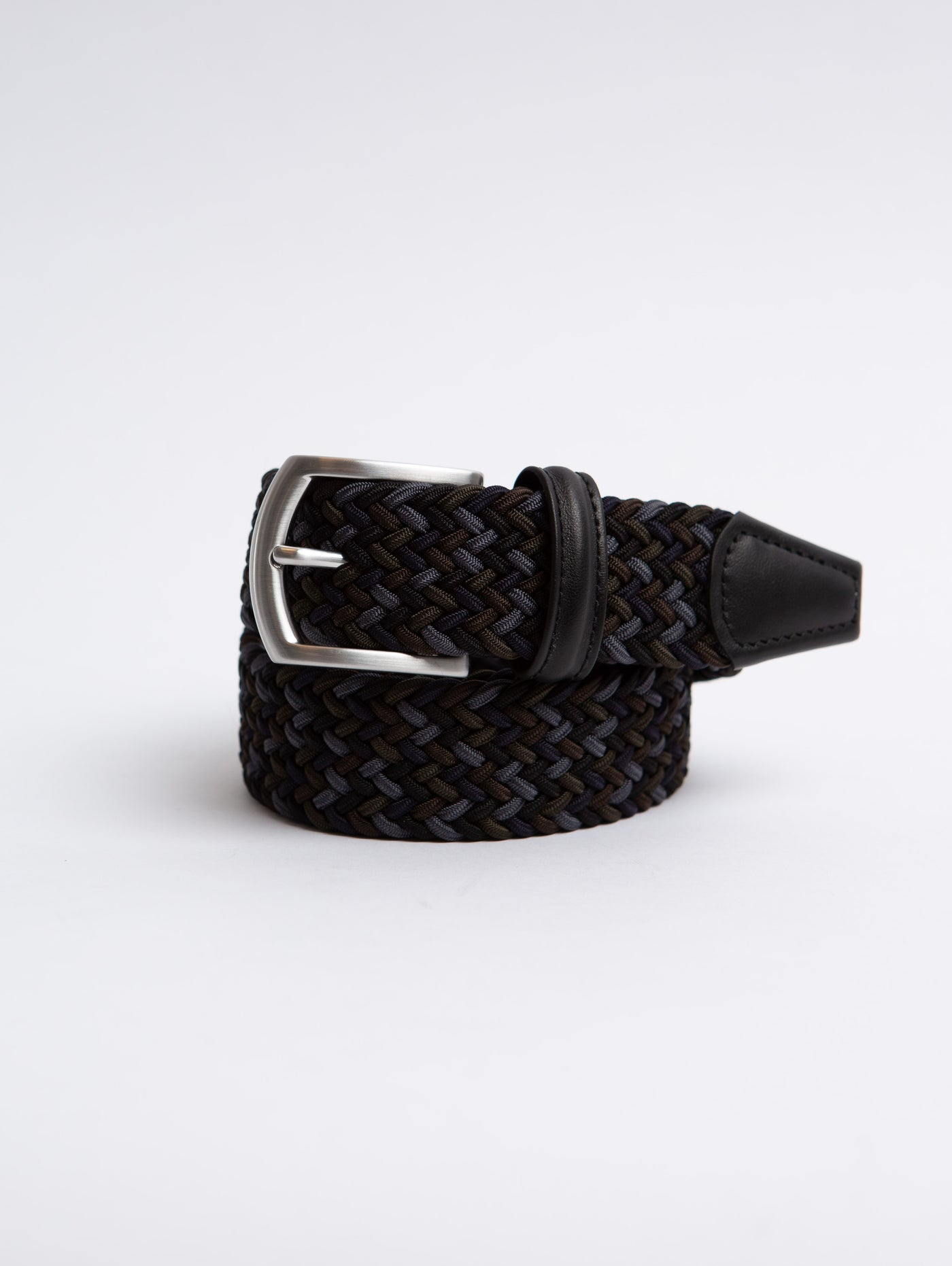 Stretch Woven Belt - Navy Multi-Anderson's-Over the Rainbow
