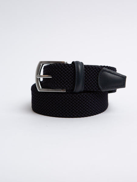 Stretch Tube Belt - Navy-Anderson's-Over the Rainbow