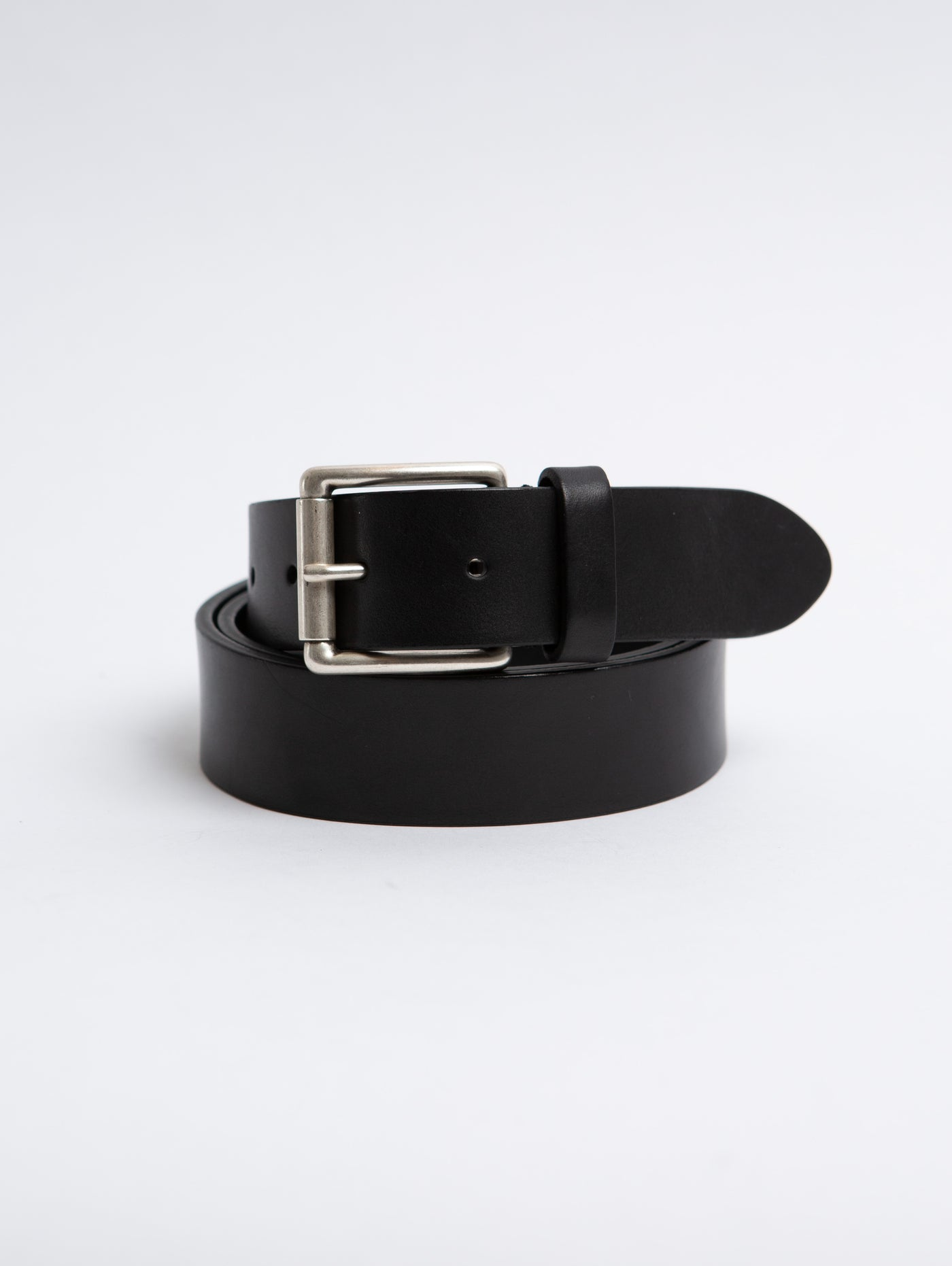 Leather Square Belt - Black-Anderson's-Over the Rainbow