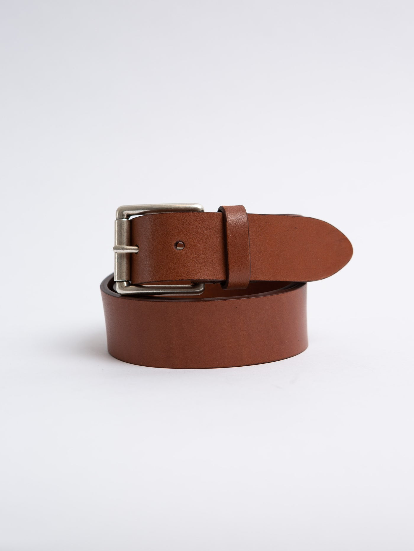 Leather Square Belt - Brown-Anderson's-Over the Rainbow