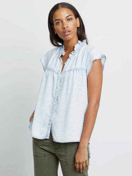 Ruthie Short Sleeve Shirt - Light Acid Wash-Rails-Over the Rainbow
