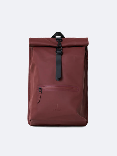 Rolltop Rucksack - Maroon-Rains-Over the Rainbow