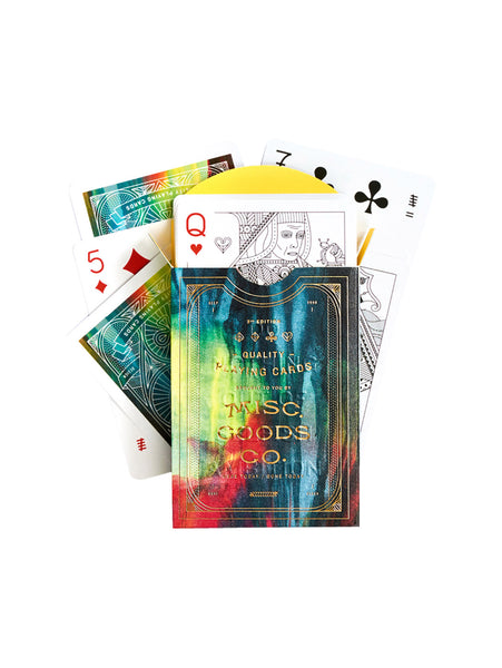 Embossed Playing Cards - Cina-MISC GOODS CO-Over the Rainbow
