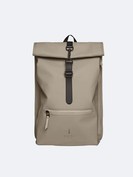 Rolltop Rucksack - Taupe-Rains-Over the Rainbow